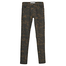 Buy Mango Camo-Print Skinny Trousers, Khaki Online at johnlewis.com