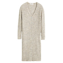 Buy Mango Ribbed Wool Blend Cardigan, Sand Online at johnlewis.com