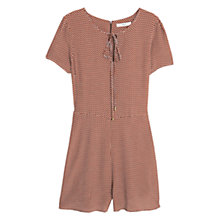 Buy Mango Printed Short Jumpsuit, Brown Online at johnlewis.com