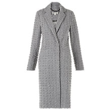 Buy Whistles Textured Wool Mix Coat, Grey Online at johnlewis.com