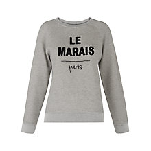 Buy Whistles Le Marais Sweatshirt, Grey Marl Online at johnlewis.com