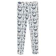 Buy Mango Jacquard Cotton Trousers, Navy/Beige Online at johnlewis.com