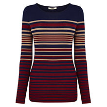Buy Oasis Colliagate Stripe Jumper, Multi Online at johnlewis.com