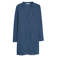 Buy Mango Flowy Long Shirt, Navy Online at johnlewis.com