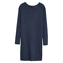 Buy Mango Polka Dot Jersey Dress, Navy Online at johnlewis.com