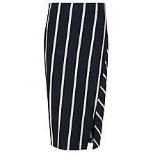 Buy Whistles Chevron Stripe Tube Skirt, Navy Online at johnlewis.com