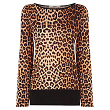 Buy Oasis Leopard Chiffon Hem Top, Multi Online at johnlewis.com