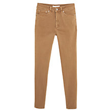 Buy Mango Super Slim Fit Jeans, Medium Brown Online at johnlewis.com