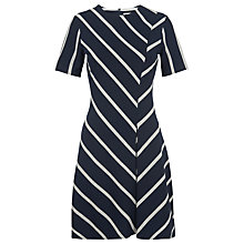 Buy Whistles Chevron Stripe Jersey Dress, Navy Online at johnlewis.com