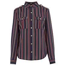 Buy Oasis Striped Shirt, Multi Blue Online at johnlewis.com
