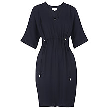 Buy Whistles Frances Gathered Dress, Navy Online at johnlewis.com