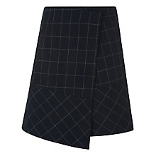 Buy Whistles Window Pane Check Skirt, Navy Online at johnlewis.com
