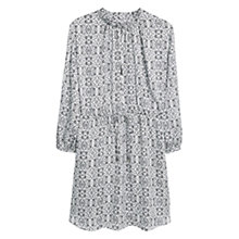 Buy Mango Elasticated Waist Dress, Natural White Online at johnlewis.com