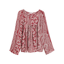 Buy Mango Boho Paisley Blouse, Rust/Copper Online at johnlewis.com