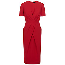 Buy Jaeger Pleated Drape Dress Online at johnlewis.com