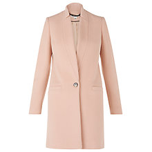 Buy Whistles Single Breasted Coat, Pink Online at johnlewis.com