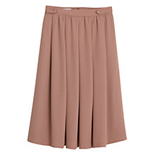 Buy Mango Flared Midi Skirt, Pink Online at johnlewis.com