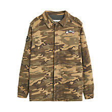 Buy Mango Military Camouflage Jacket, Khaki Online at johnlewis.com