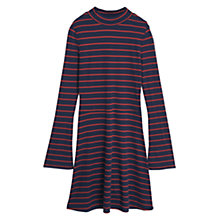 Buy Mango Ribbed Jersey Dress, Black Online at johnlewis.com