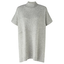 Buy Jigsaw Knitted Tabard Jumper, Grey Online at johnlewis.com