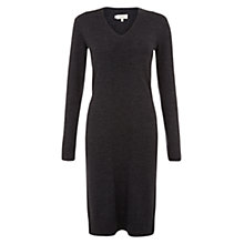 Buy Hobbs Merino Wool Marie Dress, Charcoal Online at johnlewis.com