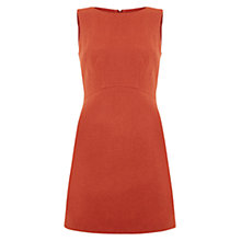 Buy Hobbs Penny Dress, Coral Orange Online at johnlewis.com