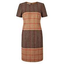 Buy Hobbs Wool Dublin Check Dress, Dark Camel/Multi Online at johnlewis.com