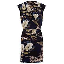 Buy Warehouse Textured Graphic Wrap Dress, Multi Online at johnlewis.com