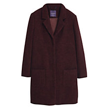 Buy Violeta by Mango Boucle Wool Blend Coat, Dark Red Online at johnlewis.com