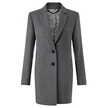 Buy Jigsaw Compact Wool Coat, Mid Length Online at johnlewis.com