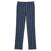 Buy Mango Striped Trousers, Navy Online at johnlewis.com