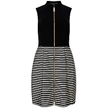 Buy Ted Baker Maurey Striped Full Skirt Dress, Black Online at johnlewis.com