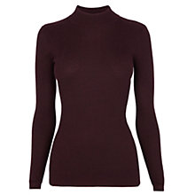 Buy Warehouse Ribbed Polo Neck Jumper Online at johnlewis.com