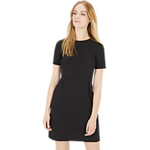 Buy Warehouse Crepe Babydoll Dress, Black Online at johnlewis.com