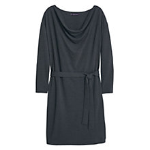 Buy Violeta by Mango Cowl Neck Belted Dress, Grey Online at johnlewis.com