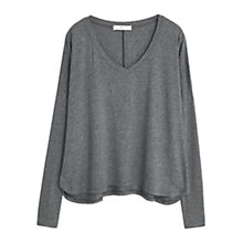 Buy Mango Flecked T-Shirt, Dark Grey Online at johnlewis.com