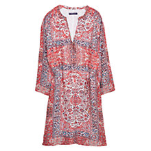 Buy Violeta by Mango Scarf Print Dress, Dark Red Online at johnlewis.com