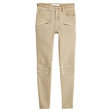 Buy Mango Slim Fit Cotton Trousers, Light Beige Online at johnlewis.com