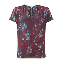 Buy Jigsaw Smudge Bloom Silk Top, Multi Online at johnlewis.com