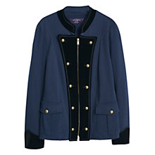 Buy Violeta by Mango Buttoned Cotton Jacket, Navy Online at johnlewis.com
