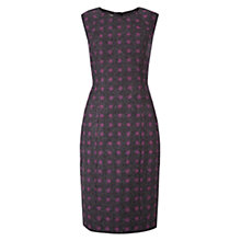 Buy Hobbs Wool Carys Spot Dress, Grey/Plum Online at johnlewis.com