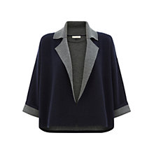 Buy Hobbs Rhian Jacket, Navy/Grey Online at johnlewis.com