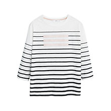 Buy Mango Striped Cotton Tee, Natural White Online at johnlewis.com