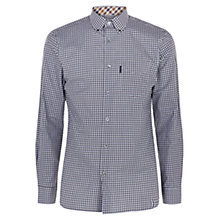 Buy Aquascutum Micro Shirt, Brown Online at johnlewis.com