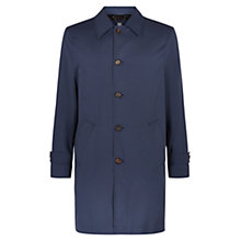 Buy Aquascutum Langden Single-Breasted Showerproof Overcoat, Blue Online at johnlewis.com