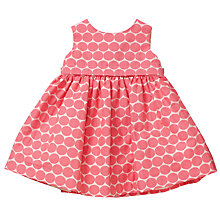 Buy John Lewis Baby Spot Party Dress, Pink Online at johnlewis.com