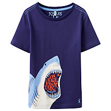 Buy Little Joule Boys' Ben Shark T-Shirt, Blue Online at johnlewis.com