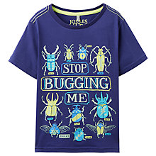 Buy Little Joule Boys' Ray Glow In The Dark Bugs T-Shirt, Blue Online at johnlewis.com