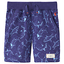 Buy Little Joule Boys' Buccaneer Shark Print Shorts, Blue Online at johnlewis.com