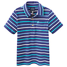 Buy Little Joule Junior Tom Stripe Polo Top, Blue Online at johnlewis.com